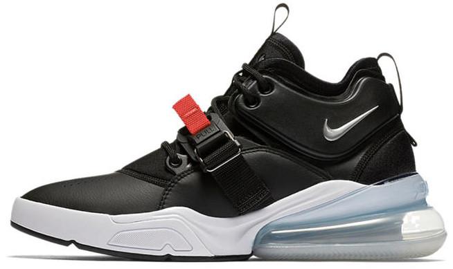 "Мужские кроссовки Nike Air Force 270 ""Bred"" (Найк Аир Форс) черный с белым"