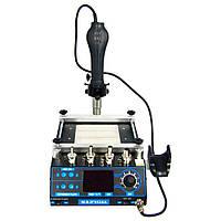 ИК Преднагреватель плат с феном WEP 853AA (Размер нагревателя 120 x 120 мм, фен с держателем)
