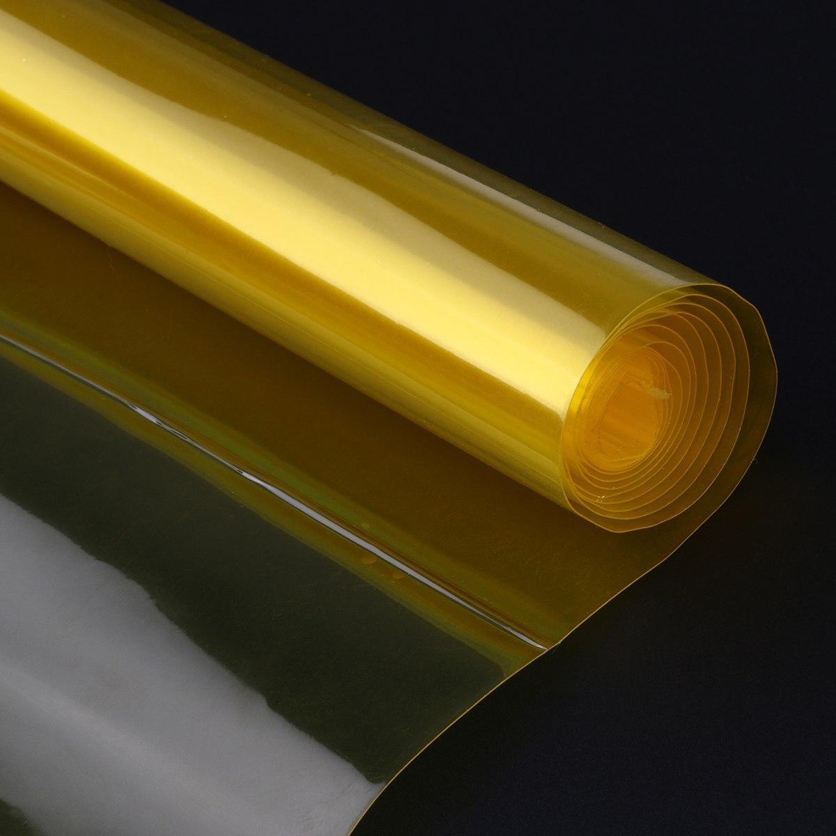 Тонировочная пленка хамелеон 120 х 30 см (Желтая). Автомобильная виниловая плёнка на фары