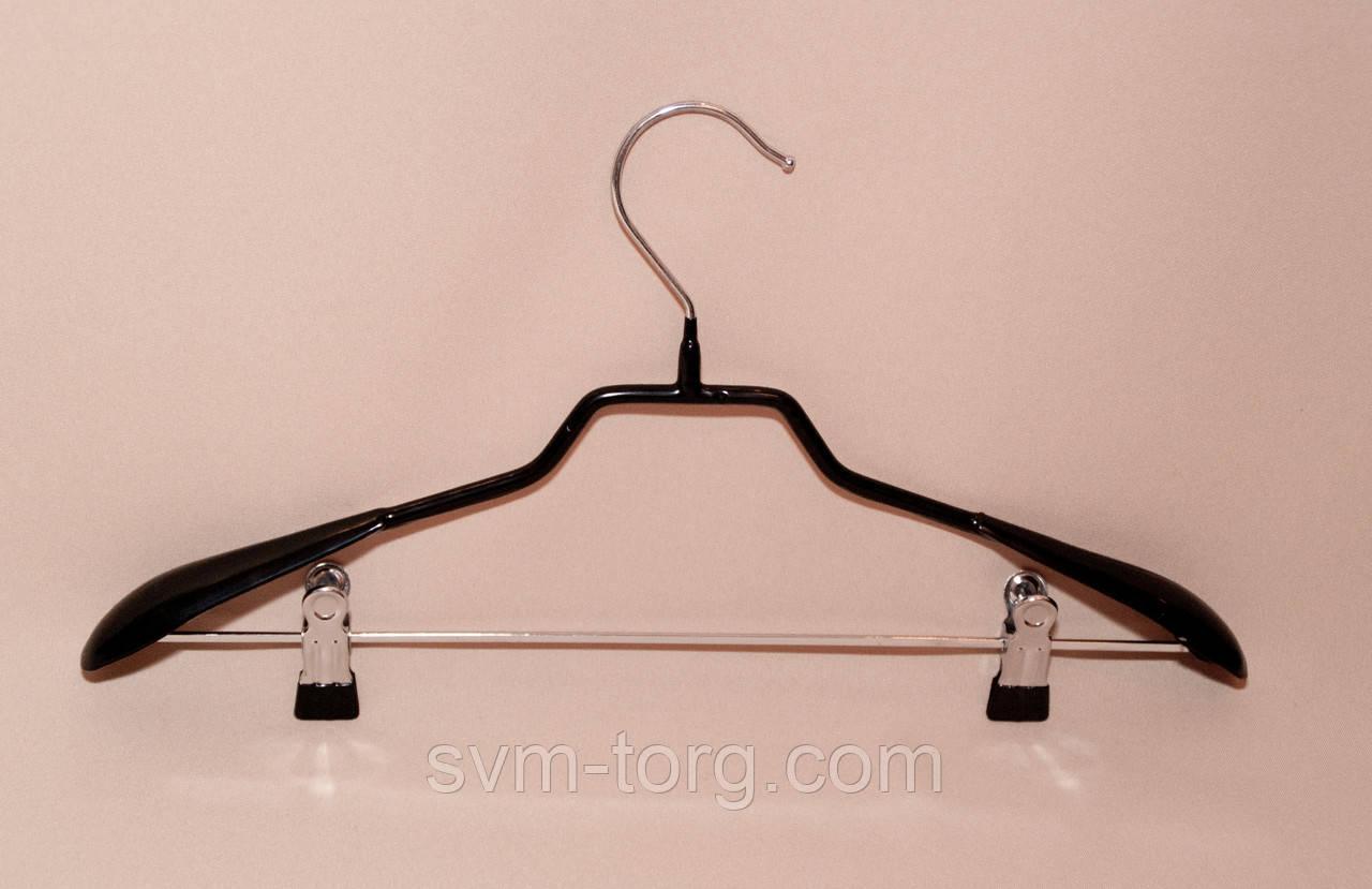 Плечики - вешалка черная силикон лопатка