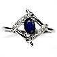 Сапфир, серебро 925, кольцо, 1312КЦС, фото 2