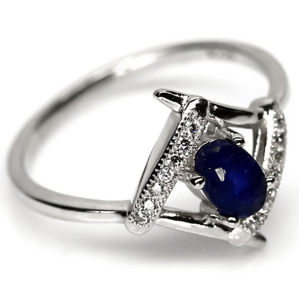 Сапфир, серебро 925, кольцо, 1312КЦС