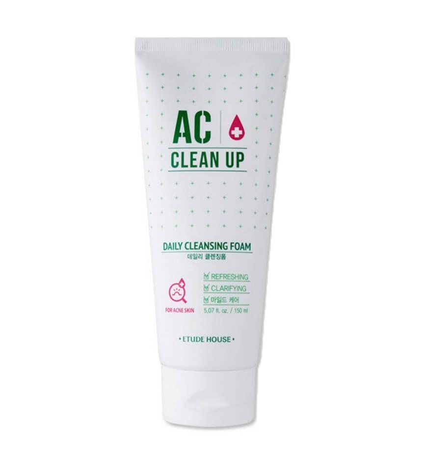 Пенка для проблемной кожи Etude House AC Clean Up Daily Acne Foam Cleanser
