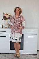 Халат махровый с капюшоном на запах  женский, фото 1