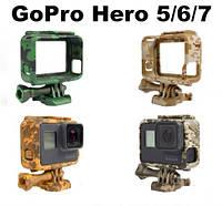 Пластиковая рамка для GoPro Hero 5/ 6/ 7 Militari