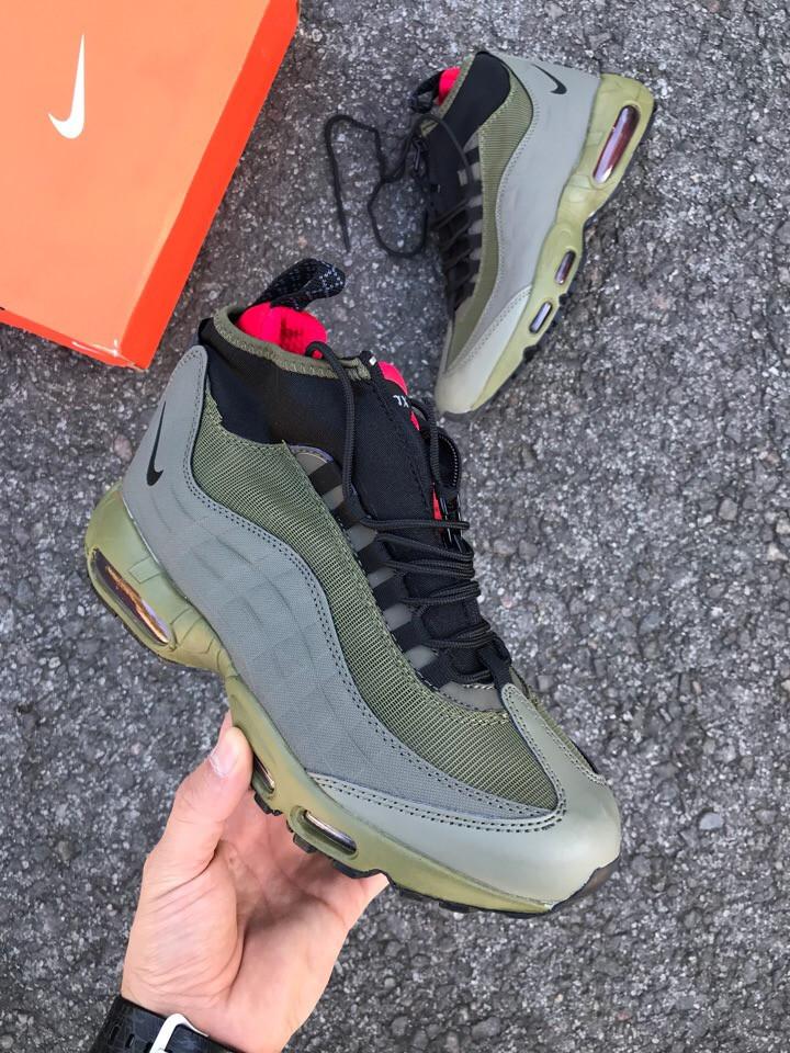 Мужские зимние кроссовки Nike air max 95 Sneakerboot (green), найк аир макс  95, найк сникербут, аир макс 95 445f1af25aa