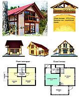 Проект каркасно-щитового дома 72 м2. Проект дома бесплатно при заказе строительства