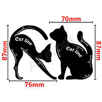 Трафарет для рисования стрел на глазах в виде кошки 2шт/уп