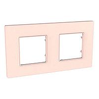 Рамка двухместная Розово-жемчужный Schneider Electric Unica Quadro (mgu4.704.37), фото 1