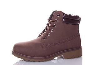 Женские зимние ботинки цвет коричневый