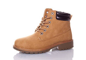 Женские зимние ботинки цвет бежевый