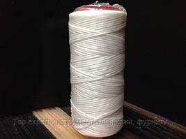 Нитка вощёная по коже (плоский шнур), т. 0,55 мм, 100 м, цв. белый