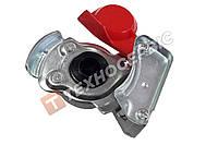 Головка соединительная М22 с клапаном красная