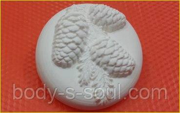 Пластиковая форма для мыла  Шишки