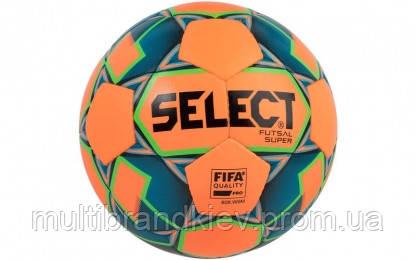 Мяч футзальный №4 SELECT FUTSAL SUPER FIFA (FIFA APPROVED) (FPUS 1700, оранжевый-зеленый-синий)