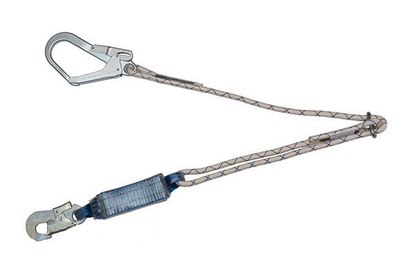 Строп из плетеного шнура с амортизатором и большим карабином
