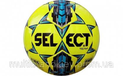 Мяч футбольный №5 SELECT TEAM FIFA (желтый-серый-голубой