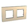 Рамка двухместная Медный Schneider Electric Unica Quadro (mgu6.704.56)