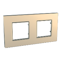 Рамка двухместная Медный Schneider Electric Unica Quadro (mgu6.704.56), фото 1