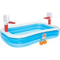 Детский надувной бассейн Bestway 54122 «Баскетбол», 254 х 168 х 102 см, фото 1
