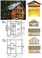 Проект дома из оцилиндрованного бревна 98,7 м2. Проект дома бесплатно при заказе строительства