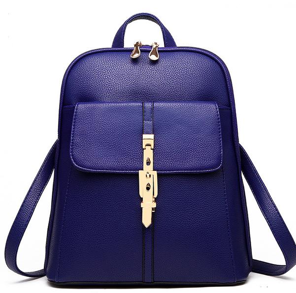 Рюкзак жіночий шкіряний міський Kailalivia Синій