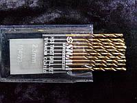 Сверло по металлу с титановым напылением диаметр 2,3 мм.