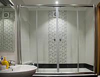 Раздвижная шторка на ванну 1500х1600