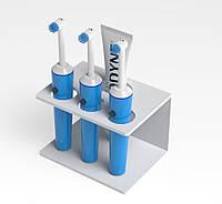 Акриловая подставка для зубных щеток №4