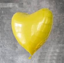 Шар сердце 45 см желтое китай