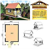 Проект каркасно-щитового дома 24,3 м2. Проект дома бесплатно при заказе строительства
