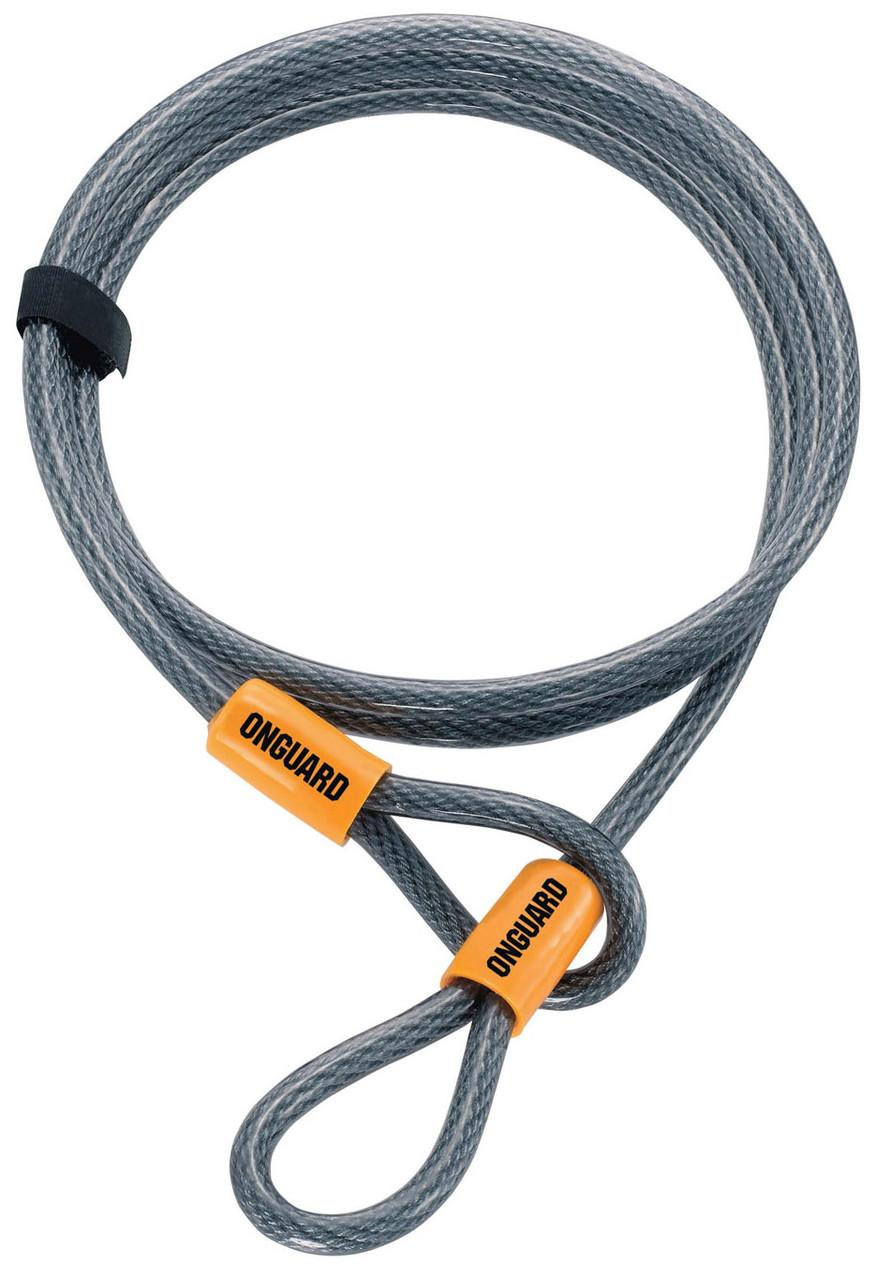Трос ONGUARD Akita Wire 220см х 10 мм на петлях с виниловым покрытием, стальной