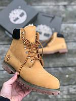 Мужские зимние ботинки Timberland (brown), зимние timberland, мужские тимберланды, тимбы рыжие