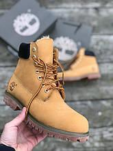 Мужские зимние ботинки Timberland brown (Реплика ААА)