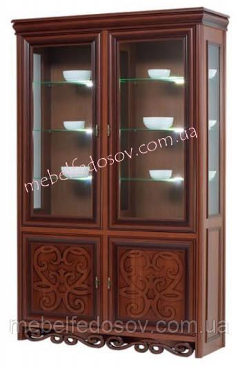 Витрина 2-х дверная Хлоя 1350х2110х460мм  (Скай)
