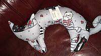 """Подушка автомобільна іграшка дитяча для дивану """"Киця"""""""
