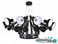 Светильник подвесной LOFT AS-120 ЧЁРНЫЙ. LED светильник. Светодиодный светильник., фото 1