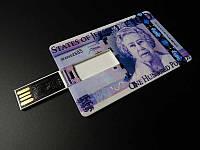 USB накопитель, флешка на 16 GB в виде купюры 100 Фунтов