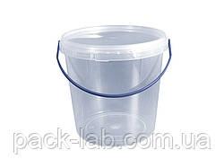 Пластикові відра з кришкою 1 л.