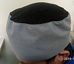 Шапочка таблетка кухарська з сіточкою на зав'язках., фото 2