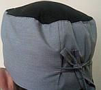 Шапочка таблетка кухарська з сіточкою на зав'язках., фото 3