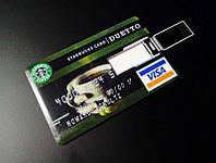 USB флешка 16 GB в виде кредитной карты DUETTO Visa