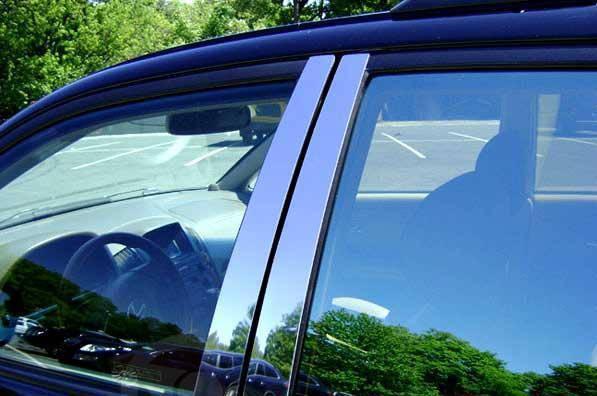 Молдинги дверных стоек Honda CR-V (2007-2010) (нерж.) 6 шт