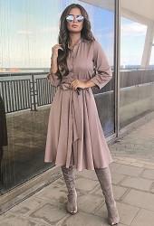 Платье бежевое Viravi Wear, модель 1022