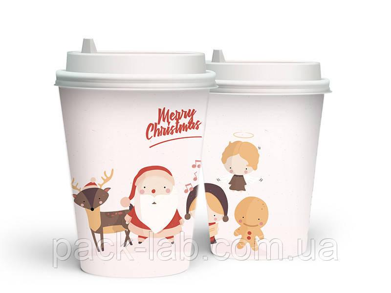 """Новорічний стакан 520 мл """"Різдвяні друзі"""""""