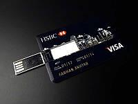 USB флешка, накопитель 32 GB в виде кредитной карты HSBC Visa