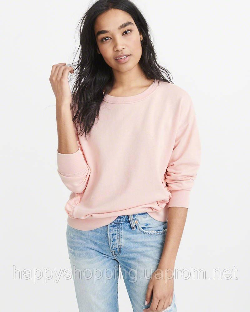 Женский розовый свитшот с рюшами  Abercrombie & Fitch