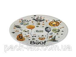 """Тарілка паперова одноразова d23 """"Halloween"""" BOO !"""