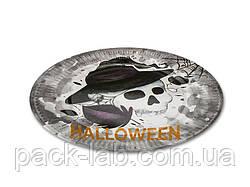 """Тарілка паперова одноразова d23 """"Halloween"""" Череп"""