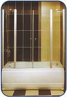 Распашная шторка на ванну 1500х1600